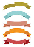 Banner and ribbon set Royalty Free Stock Photography