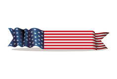 Banner ribbon united states of america Stock Photos