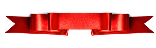 Banner ribbon on white. Red banner ribbon isolated on white background royalty free stock photo
