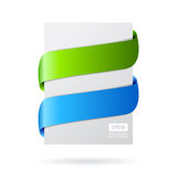 Banner ribbons Stock Images