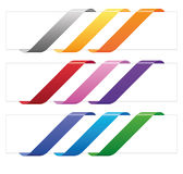 Banner ribbons in various colors Stock Photography