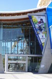 Banner at Richmond Olympic Oval. Vancouver 2010 speed skating Olympic venue, advertising opening of the ROX in November 2015. Picture taken Sep 2015 Royalty Free Stock Photo