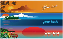 Banner - romantic carribean summer. Romantic carribean summer can used as a banner for web site Vector Illustration