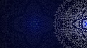 Banner with round abstract ornament. Stock Image