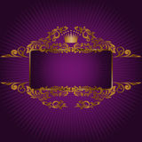 Banner with the royal symbols Royalty Free Stock Photography