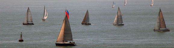 Banner of sailboats Royalty Free Stock Photo