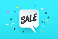 Banner Sale in geometric style Stock Photography