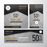 BANNER SALE. LIMITED EDITION LOGO Royalty Free Stock Photo