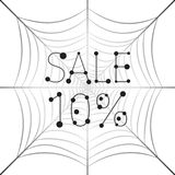Banner Sale 10 percent discount on web. Hanging uniform Web with the inscription Sale 10 percent Royalty Free Stock Photos