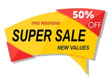 Banner sale template design. Sale poster of black friday, banner template design Stock Image