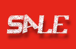 Banner Sale. white letters on a red background Stock Photos