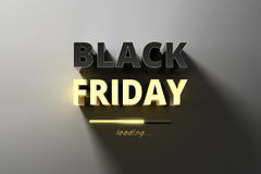 Banner for sales on black friday hot sale. Stock Images