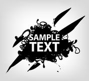 Banner with sample text Royalty Free Stock Photos