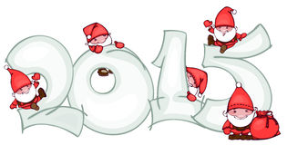 Banner with Santa. Banner of new 2015 year with Santa Claus vector illustration