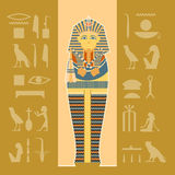 Banner of sarcophagus Stock Photography