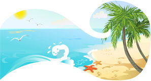 Banner with sea view Royalty Free Stock Image