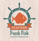 Banner for seafood Royalty Free Stock Photography
