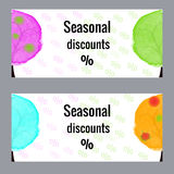 Banner seasonal discounts. Royalty Free Stock Photos