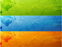 Banner Set. Eight banners on different themes, multi-coloured Stock Photography