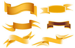Banner set. Set of ribbons for your text Stock Image