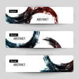 Banner set with abstract design. Stock Photo