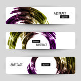 Banner set with abstract design. Royalty Free Stock Photography