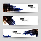 Banner set with abstract design. Royalty Free Stock Images