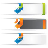 Banner set with arrows and shadow Stock Photography