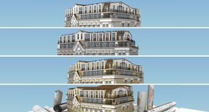 Banner set attic Royalty Free Stock Photography