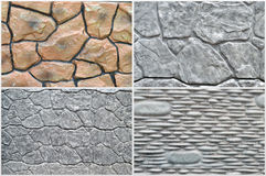 A banner set of backgrounds. Of stone wall Stock Photography