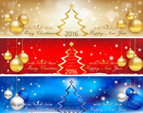 Banner set for Christmas and New Year Royalty Free Stock Photography