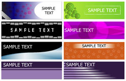 Banner set collection Royalty Free Stock Photos