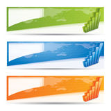 Banner set with diagrams, financial concept Stock Photos
