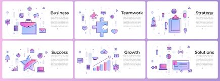 Banner set digital marketing. For web design Royalty Free Stock Photo