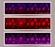 Banner set of happy new year  illustration. Banner set of happy new year Stock Images
