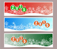 Banner set of happy new year  illustration. Banner set of happy new year Royalty Free Stock Image