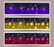 Banner set of happy new year  illustration. Banner set of happy new year Stock Photos