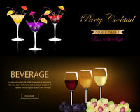 Banner set for restaurant and bar Royalty Free Stock Photos
