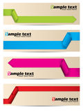 Banner set with ribbons Royalty Free Stock Photography