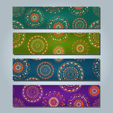 Banner Set with Round Abstract Elements Royalty Free Stock Photography