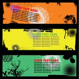 Banner set with scribble Royalty Free Stock Photos