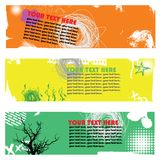 Banner set with scribble Stock Images