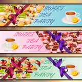 Banner set with sweets Stock Images