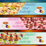 Banner set with sweets Royalty Free Stock Images