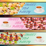 Banner set with sweets Royalty Free Stock Photos
