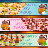 Banner set with sweets Stock Image