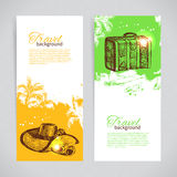 Banner set of travel backgrounds Stock Image