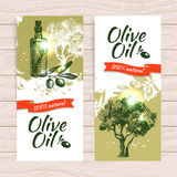 Banner set of vintage olive background Royalty Free Stock Photos