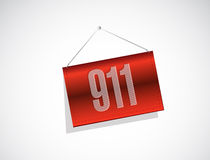 911 banner sign concept illustration. Design over white Stock Photography