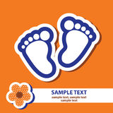 Banner with signs of baby s feet. Vector banner with signs of baby s feet Stock Image
